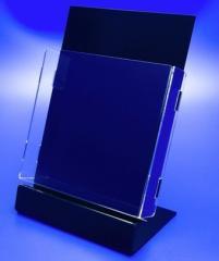 Подставка для рекламы под А4 формат, акрил 1.8 мм, габариты (ШхВхГ) 216х315х118 мм (PP-237)