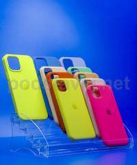 Витринная подставка под чехлы для смартфонов (250 мм)., акрил 1.8 мм, габариты (ШхВхГ) 264х92х133 мм (MS-80)