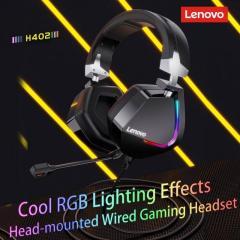 Новинка! Игровые наушники LENOVO H402 качественные, надежные геймерские наушники