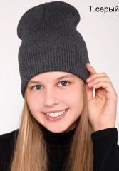 Демисезонная тонкая шапка в рубчик женская, подростковая, для девочки. Много расцветок