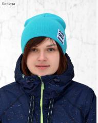 Демисезонная Спортивная шапка двойной вязки подростковая унисекс, для девочки, для мальчика.Осенняя шапка