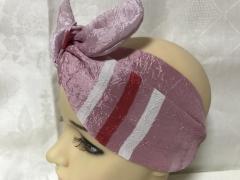 Двухсторонняя розовая повязка Солоха -узелок из