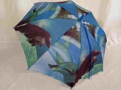 Зонт детский для девочки на 8 спиц с рисунком