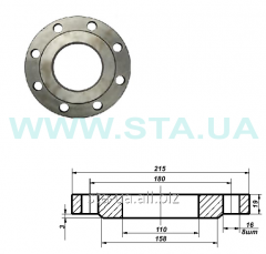 Flanges steel Du of 100 mm of Ru10 from the