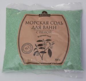 Salt with foam, kaolin and Zhelan TM essential oil