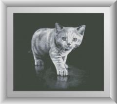 30146 Набор алмазной мозаики Серый котенок