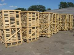 Firewood dry hornbeam, ash-tree, pine