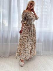 Длинное летнее платье ХS 42р