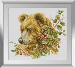 31532 Коричневый медведь Набор алмазной живописи