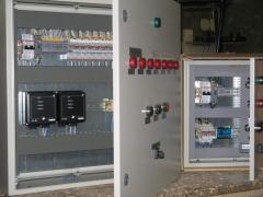 Control panels for ventilating systems, the