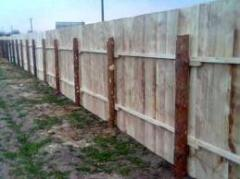 Fence construction wooden
