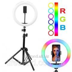 Кольцевая LED RGB лампа 30 см 25 W с держателем
