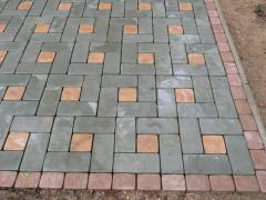 The vibrocast paving slabs Donetsk from the