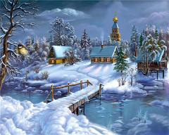 КДИ-0321 Набор алмазной вышивки Прекрасная зимняя