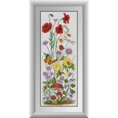 31002 Полевые цветы (панель) Набор алмазной