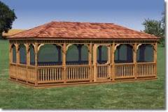 Arbors wooden any complexity and the sizes, from