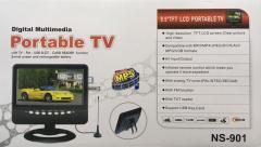 Портативный жк телевизор ( TV NS-901D/9'' )