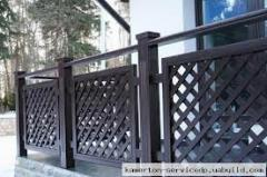 Fences are wooden decorative