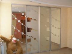 Шкафы-купе зеркальный встроенный