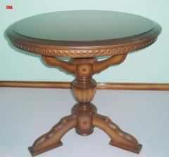 Smart, round coffee table, from the massif of the