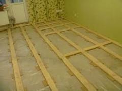 Logs for floors