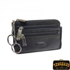 Ключница кожаная Cortina 5016 nero черный