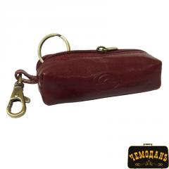Ключница кожаная Italico 109 rosso красный