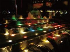Подсветка новый год разноцветная садовая фонтанная