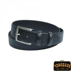 Ремень кожаный 11 nero черный