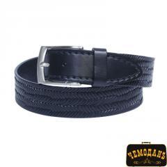 Ремень кожаный 176 nero черный