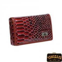 Визитница кожаная Fashion 2678 rosso красный