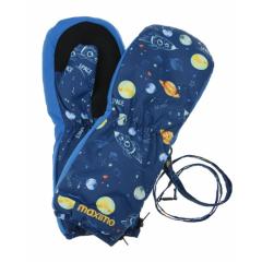 Детские варежки краги тепле на молнии Космос и