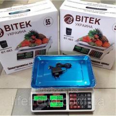 Торговые электронные весы BITEK BT-983 6V до...