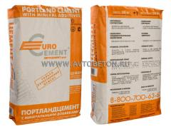 M400, PTs II/B-Sh-400 cement, in bags on 25 kg