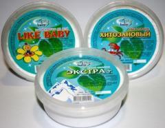 Tooth-powders, packaging of 150 cm3. (50 g)