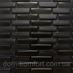 Самоклеящаяся декоративная 3D панель черная...