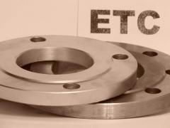 Flanges are flat corrosion-proof