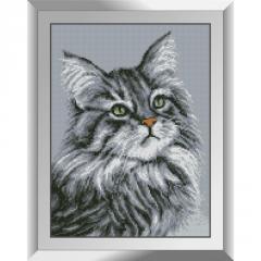 31378 Серый кот Набор алмазной живописи