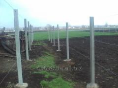 Столбы  для рабицы и винограда 2,70м