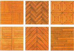 The parquet is natural