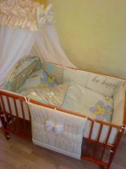 Sets bed nurseries in a bed