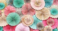 Бумажные розетки для оформления свадеб,дней