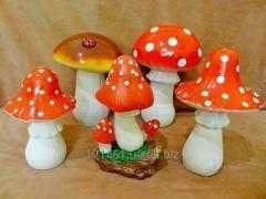 Mushroom in a garden