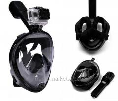 Маска L/XL ЧЕРНАЯ для подводного плавания, маска