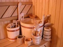 Fonts for saunas, Wooden a tub, Oak gang