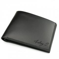 Кожаное мужское портмоне чёрного цвета Morison