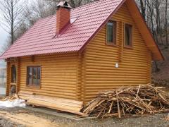 Деревянные дома из оцилиндрованного бревна,