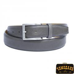 Ремень кожаный 414 grigio серый
