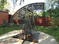 Мебель садово-парковая кованная: кованые столы,