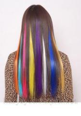 Цветные пряди на заколках для наращивания волос,